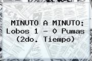 MINUTO A MINUTO: Lobos 1 - 0 <b>Pumas</b> (2do. Tiempo)
