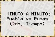 MINUTO A MINUTO: Puebla <b>vs Pumas</b> (2do. Tiempo)