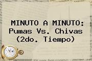 MINUTO A MINUTO: <b>Pumas Vs</b>. <b>Chivas</b> (2do. Tiempo)