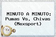 MINUTO A MINUTO: <b>Pumas Vs</b>. <b>Chivas</b> (Mexsport)