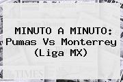 MINUTO A MINUTO: <b>Pumas Vs Monterrey</b> (Liga MX)