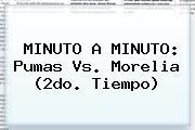 MINUTO A MINUTO: <b>Pumas Vs. Morelia</b> (2do. Tiempo)
