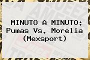 MINUTO A MINUTO: <b>Pumas Vs. Morelia</b> (Mexsport)