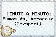 MINUTO A MINUTO: <b>Pumas Vs</b>. <b>Veracruz</b> (Mexsport)