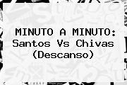 MINUTO A MINUTO: <b>Santos Vs Chivas</b> (Descanso)
