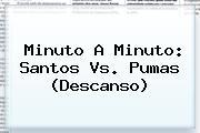 Minuto A Minuto: <b>Santos Vs. Pumas</b> (Descanso)