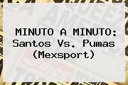 MINUTO A MINUTO: <b>Santos Vs. Pumas</b> (Mexsport)