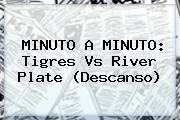 MINUTO A MINUTO: <b>Tigres Vs River</b> Plate (Descanso)