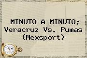 MINUTO A MINUTO: <b>Veracruz Vs</b>. <b>Pumas</b> (Mexsport)