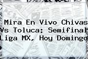 Mira En Vivo <b>Chivas Vs Toluca</b>: Semifinal Liga MX, Hoy Domingo