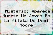Misterio: Aparece Muerto Un Joven En La Pileta De <b>Demi Moore</b>