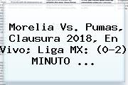 <b>Morelia Vs</b>. <b>Pumas</b>, Clausura 2018, En Vivo; Liga MX: (0-2) MINUTO ...