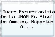 Muere Excursionista De La <b>UNAM</b> En Pinal De Amoles, Reportan A ...