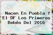 Nacen En Puebla Y El DF Los Primeros Bebés Del <b>2016</b>
