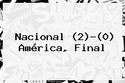<b>Nacional</b> (2)-(0) <b>América</b>, Final
