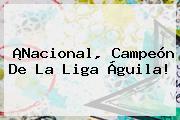 ¡<b>Nacional</b>, Campeón De La Liga Águila!