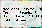 <b>Nacional</b> Tendrá Su Tercera Prueba En Libertadores: Visita Al Bolívar ...