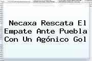<b>Necaxa</b> Rescata El Empate Ante <b>Puebla</b> Con Un Agónico Gol