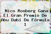 Nico Rosberg Gana El Gran Premio De Abu Dabi De <b>Fórmula 1</b>