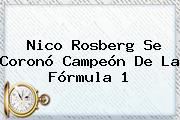 Nico Rosberg Se Coronó Campeón De La <b>Fórmula 1</b>