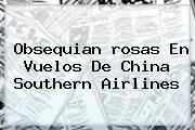 Obsequian <b>rosas</b> En Vuelos De China Southern Airlines
