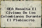 <b>OEA Resalta El Civismo De Los Colombianos Durante El Plebiscito</b>