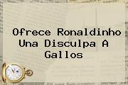 Ofrece <b>Ronaldinho</b> Una Disculpa A Gallos