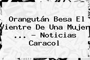 Orangután Besa El Vientre De Una Mujer <b>...</b> - <b>Noticias Caracol</b>