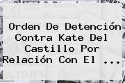 Orden De Detención Contra <b>Kate Del Castillo</b> Por Relación Con El <b>...</b>