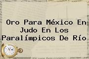 Oro Para <b>México</b> En Judo En Los <b>Paralímpicos</b> De Río