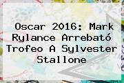 Oscar 2016: Mark Rylance Arrebató Trofeo A <b>Sylvester Stallone</b>