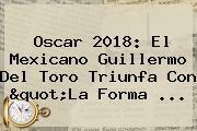 Oscar 2018: El Mexicano <b>Guillermo Del Toro</b> Triunfa Con &quot;La Forma ...