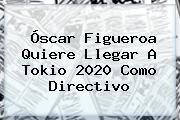 <b>Óscar Figueroa</b> Quiere Llegar A Tokio 2020 Como Directivo