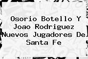 Osorio Botello Y <b>Joao Rodriguez</b> Nuevos Jugadores De Santa Fe
