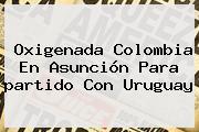 Oxigenada <b>Colombia</b> En Asunción Para <b>partido</b> Con Uruguay