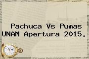 <b>Pachuca Vs Pumas</b> UNAM Apertura <b>2015</b>.