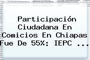 Participación Ciudadana En Comicios En Chiapas Fue De 55%: <b>IEPC</b>