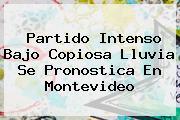Partido Intenso Bajo Copiosa Lluvia Se Pronostica En Montevideo