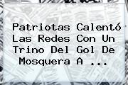<b>Patriotas</b> Calentó Las Redes Con Un Trino Del Gol De Mosquera A ...