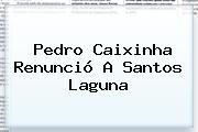 <b>Pedro Caixinha</b> Renunció A Santos Laguna