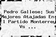 Pedro Gallese: Sus Mejores Atajadas En El Partido <b>Monterrey Vs</b> ...