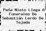 Peña Nieto Llega A Funerales De <b>Sebastián Lerdo De Tejada</b>