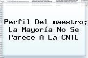 Perfil Del <b>maestro</b>: La Mayoría No Se Parece A La CNTE