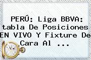 PERÚ: <b>Liga BBVA</b>: <b>tabla</b> De Posiciones EN VIVO Y Fixture De Cara Al <b>...</b>