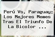 <b>Perú Vs</b>. <b>Paraguay</b>: Los Mejores Memes Tras El Triunfo De La Bicolor <b>...</b>