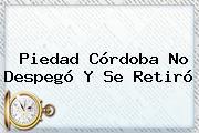 <b>Piedad Córdoba</b> No Despegó Y Se Retiró