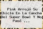<b>Pink</b> Arrojó Su Chicle En La Cancha Del Super Bowl Y No Pasó ...