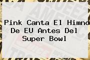 <b>Pink</b> Canta El Himno De EU Antes Del Super Bowl