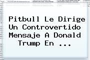 Pitbull Le Dirige Un Controvertido Mensaje A Donald Trump En <b>...</b>