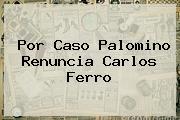 Por Caso Palomino Renuncia <b>Carlos Ferro</b>